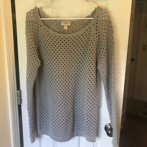 Loft Gray Knitted Sweater Size L